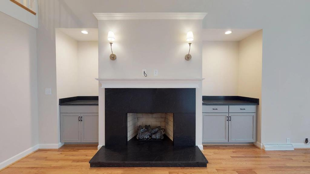 New built-in adorns gas fireplace