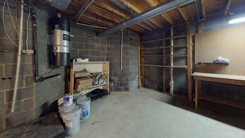 Basement workshop area