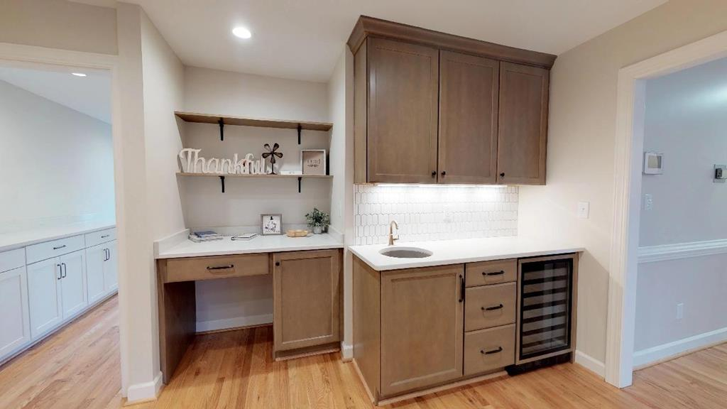 Kitchen desk hub/wine cooler